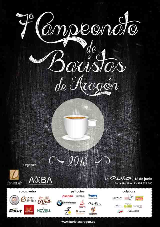 Cartel Concurso baristas Aragón 2013