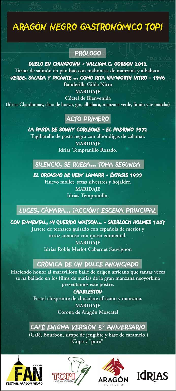 Topi Zaragoza Os Presentamos El Men 250 Arag 243 N Negro border=