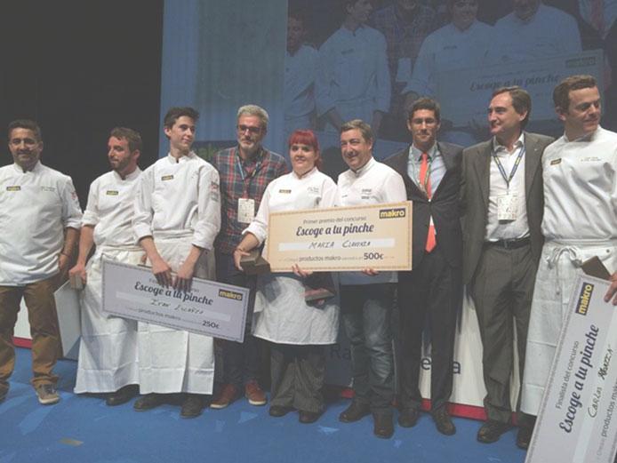 María Clavería, Escuela Hostelería TOPI, ganadora concurso ELIGE A TU PINCHE 2014