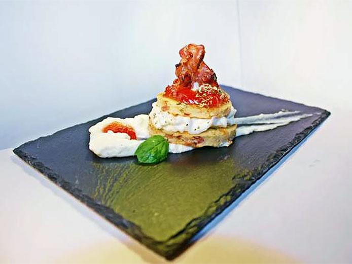 cup cake salado con bacon y queso de María Clavería