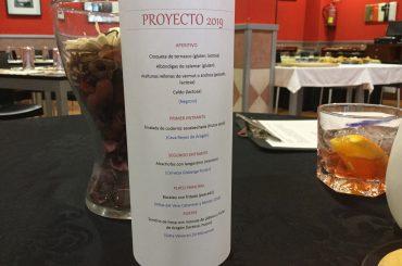 Menú proyectos gastronomicos