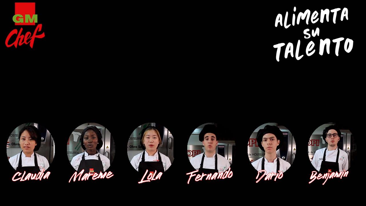 """Candidaturas de la Escuela de Hostelería TOPI al concurso GMchef 2019 """"Alimenta tu talento"""""""