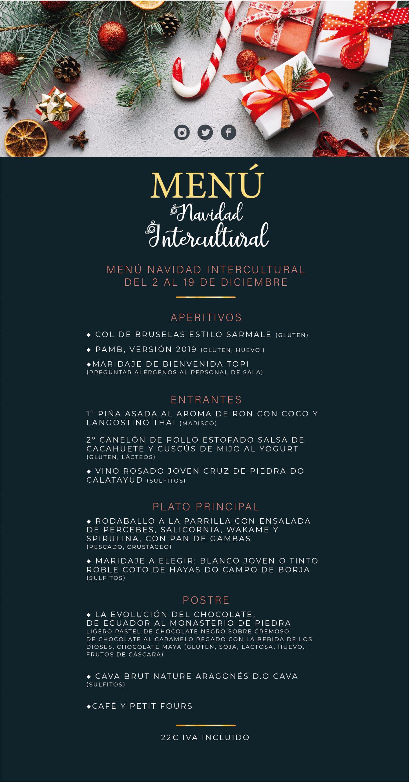 Menú Navidad Intercultural 2019 TOPI
